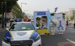 12일 세종대로 차 없는 거리 행사에서 도로교통공단 서울지부, 서울시청, 미쉐린코리아, 볼보트럭코리아가 어린이 교통안전 Safe Mission 캠페인을 진행하고 있다