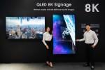 삼성전자가 디스플레이 전문 전시회 동남아 인포콤 2019에 참가해 퀀텀닷 소재 기술과 8K 고해상도를 접목해 최고의 화질을 구현한 상업용 QLED 8K 사이니지를 전시한다