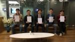 4월 30일 양성과정을 수료한 교육생들