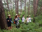 국립평창청소년수련원 주변에서 청소년들이 자연환경 모니터링 활동을 하고 있다