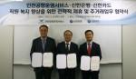 신한카드는 인천공항운영서비스, 신한은행과 함께 인천공항운영서비스 임직원 복지카드 및 주거래 은행 협약 체결을 위한 전략적 제휴 협약을 체결했다