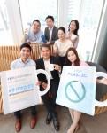 커티스 장 푸르덴셜생명의 사장과 직원들이 플라스틱 프리 챌린지 캠페인에 참여하고 있다