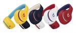 왼쪽부터 Beats Solo3 Wireless 헤드폰 Beats Club Collection 옐로, 네이비, 화이트, 레드