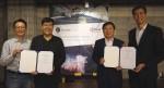 왼쪽부터 퓨처플레이 권오형 파트너, 퓨처플레이 류중희 대표, 인피니언 코리아 이승수 대표이사, 인피니언 아태지역 씨에스 추아 사장이 협약 체결 후 기념촬영을 하고 있다