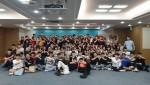The가꿈 3기 사전교육 참가자들이 기념사진을 촬영하고 있다