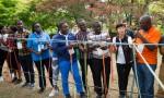 KOICA 글로벌연수단 청소년지도자들이 국립중앙청소년수련원을 방문하여 숲밧줄놀이프로그램을 체험하고 있다