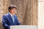 신일 정윤석 대표이사가 창립60주년 기념사를 말하고 있다