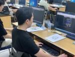 수업 중인 중부기술교육원 공동훈련센터 인테리어디자인 과정 교육생
