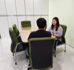 누림센터 스마트종합민원상담실에서 상담이 진행되고 있다