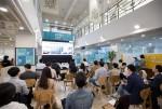 2019년 5월 센터에서 진행된 데모데이. 센터는 보육기업의 투자유치를 위한 데모데이를 연 2회 정기적으로 개최하고 있다