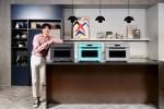 삼성전자가 비스포크 냉장고 색상을 적용한 직화오븐 신제품을 출시했다
