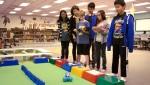 대시를 활용하여 원더리그 미션을 풀고 있는 학생들
