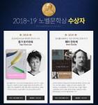 예스24 2018, 2019 노벨문학상 수상자