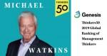 The First 90 Days와 Master Your Next Move의 저자 마이클 왓킨스가 세계에서 가장 영향력 있는 경영 사상가 순위에 올랐다