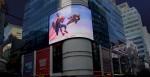미니소와 마블이 세계 6개 대도시 주요 랜드마크에서 홍보 동영상을 동시 상영했다