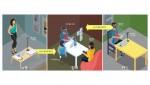 5G기반 홀로그래픽 텔레프레젠스(홀로포테이션) 서비스의 개념도