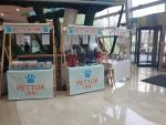 건국대 캠퍼스타운 사업단이 창업팀 플리마켓을 열었다