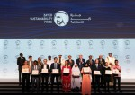 2020 자예드 지속가능성상 수상자와 함께 한 셰이크 모하메드 빈 자예드와 국가 수반 및 고위 공무원들