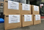 향아축산물프라자 만촌동 본점이 기부하는 1400여개 개인위생용품