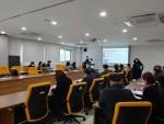 김포대 신입생 오리엔테이션을 온라인으로 진행하기 위해 사전교육을 실시하고 있다