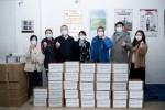 중국 칭다오시문화관광국과 칭다오시여행사협회가 한국 여행업체에 마스크 1만5000장을 기부했다