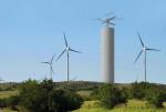 풍력 발전 지역의 에너지 볼트 타워