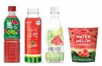 GS25가 출시한 수박음료 3종과 수박화채빙수