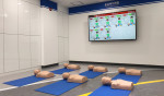 하남 안전체험장 심폐소생술 교육장에 설치된 태양 '써니CPR시뮬레이터'