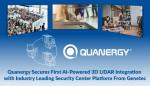 쿼너지가 제네텍의 업계 선도적 보안 센터 플랫폼에 AI 기반 3D 라이다 통합을 최초로 완료했다