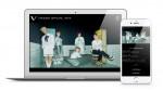 신인 아이돌 VANNER의 비트팬 프로 일본 팬 사이트 화면