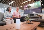 SK텔레콤이 시니어 고객의 건강하고 즐거운 삶을 지원하는 서비스 누구 오팔을 출시했다