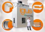 ISO 14644-1의 클린룸 Class 1에 적합한 무분진 제품의 빠른 개발을 목적으로 Fraunhofer IPA에서 건립한 이구스 클린룸 연구소
