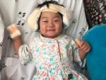 인공달팽이관 수술을 받고 회복 중인 윤호(2살, 가명)