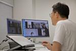 온라인 화상 시스템으로 한양대학교 루키에게 비즈니스 모델에 대해 조언하는 탠버린 이명엽 대표