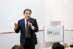 조동성 산업정책연구원 이사장이 경영자독서모임 MBS 50기 개원 기념 특별 강의를 진행하고 있다