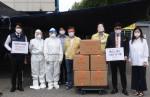 한국이구스가 인천 연수구 코로나19 선별 진료소에 페이스 쉴드 1000장을 기탁했다