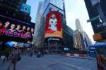나스닥 대형 광고 스크린에 등장한 사이버베인 '2020년 중국을 대표하는 기업'