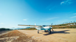 국내 최초로 도입된 스카이다이빙 전용 세스나 C208 터보프롭 캐러밴 항공기