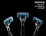 DORCO Slant Stubble Razor with blades slanted 10 degrees is launched on INDIEGOGO