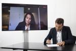 ABB 터보차징, 콩스버그 디지털의 화상 계약 체결식