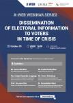 코로나19 위기 속 유권자 선거정보 제공 방안 웨비나 포스터