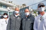 왼쪽부터 알마알라 CEO 니콜라스 네이플스, 오셔노사이언티픽 탐험 이사 이반 그리보발, 모나코 군주 알베르 2세, 아마알라 CSO 브랜든 잭