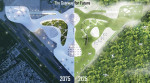 1등 수상작인 The Green Gateway, Southern California Institute of Architecture (SCI-Arc) 소속 니킬 방(Nikhil Bang)과 코셜 타티야(Kaushal Tatiya) 출품작