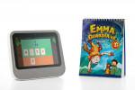 '토도수학' 앱을 탑재한 인포마크의 '스피킹버디' 디바이스(왼쪽)와 교재(오른쪽)