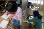2020 초록산타 상상학교의 특별한 크리스마스 온라인 프로그램에 참여한 아동들이 초록산타 프로그램을 진행하고 있다