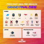 PWS 프리시즌 그랜드 파이널 진출 팀