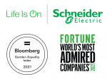 Schneider Electric has been listed on the Fortune World's Most Respected Companies and Bloomberg Gender Equality Index for four consecutive years