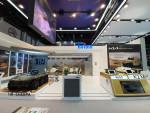 IDEX 2021 방산 전시회에 참가한 현대로템 전시관 전경