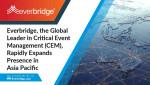 중대사건 관리 분야의 글로벌 선도기업 에버브리지가 아시아 태평양 진출 지역을 급속히 확대하고 있다
