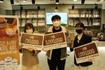 왼쪽부터 3등, 1등, 2등 수상자 황유경, 김영진, 이영화 바리스타
